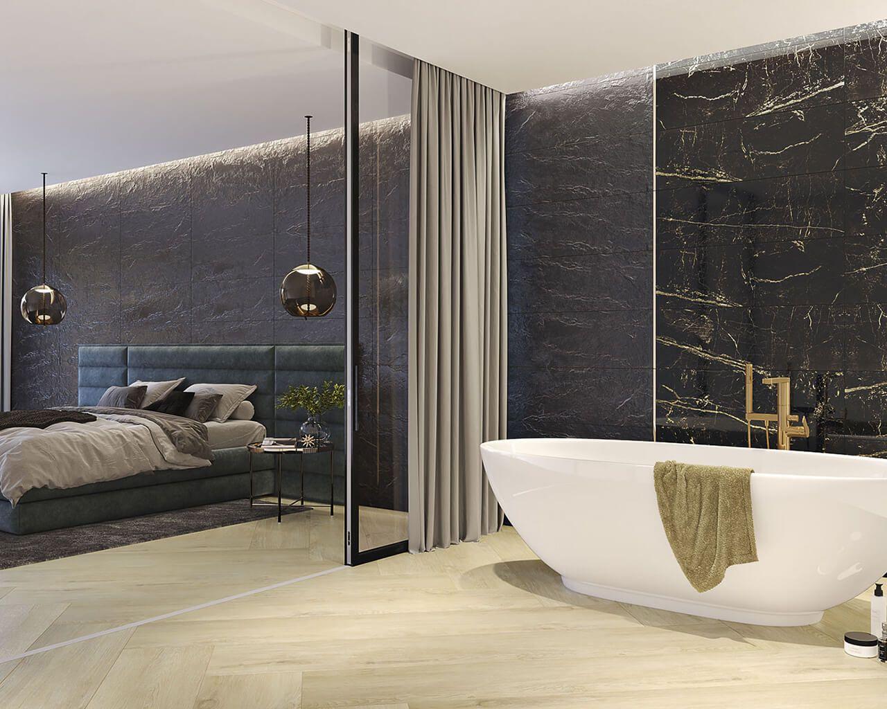 Pomysły na sypialnię z łazienką