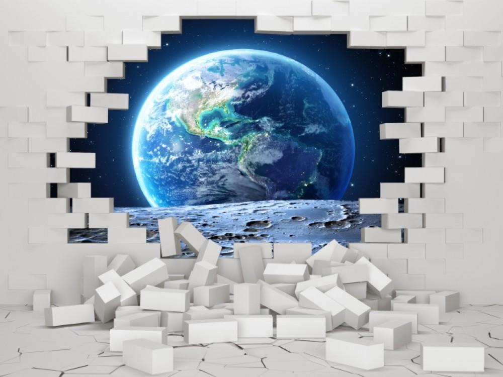 Fototapeta 3D jako element aranżacji salonu