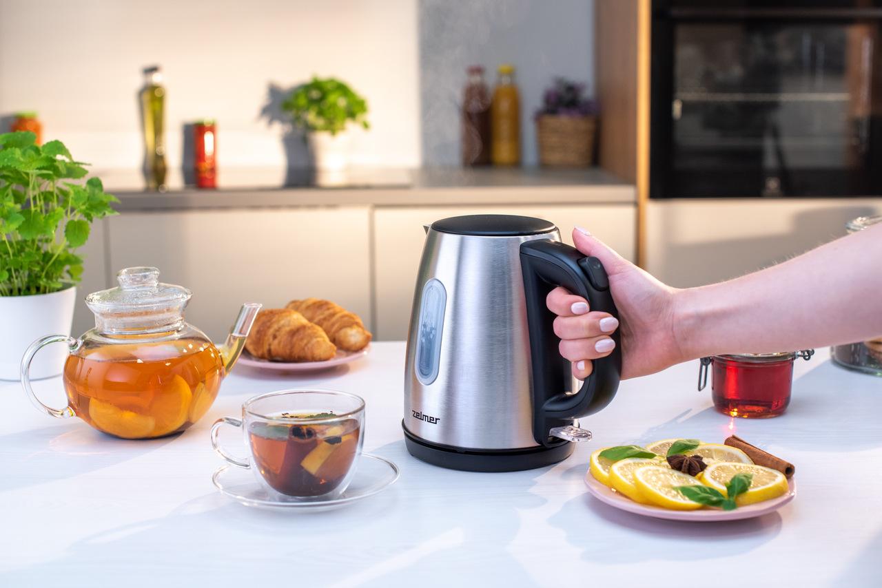Herbata przygotowana przy użyciu czajnika elektrycznego